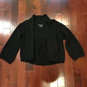 Karen Kane Black 3/4 Sleeve Open Front Cardigan